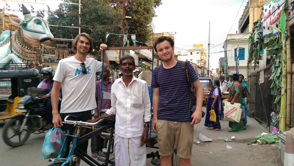 Travel in India: A man gave us a wonderful tour of Madurai on his manual rickshaw