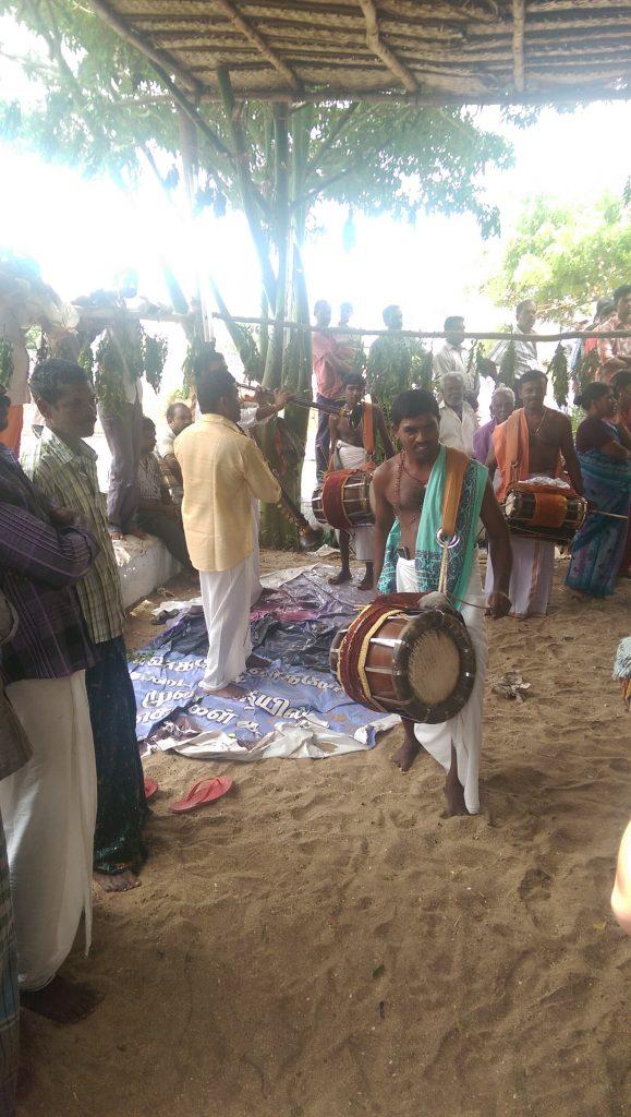 Kanyakumari Hindu Festival. Drummers.