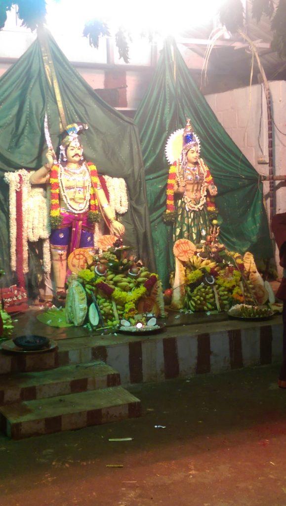 Kanyakumari statues of Gods, Hindu festival.