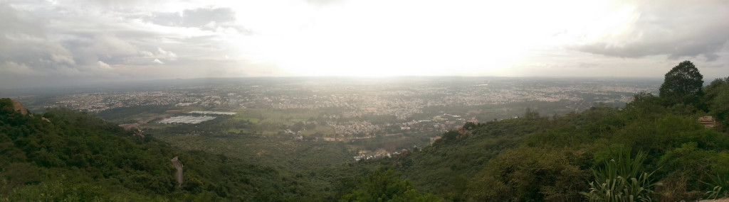 View from atop Chamundi Hill, Mysore, Mysuru