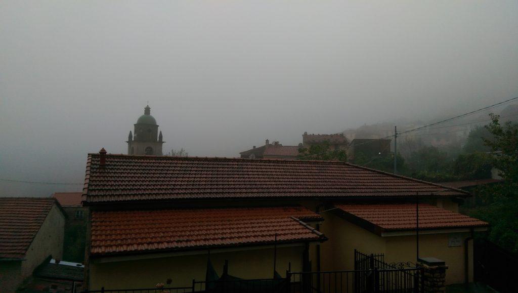 Cinque Terre, Italy - Biassa in the mist