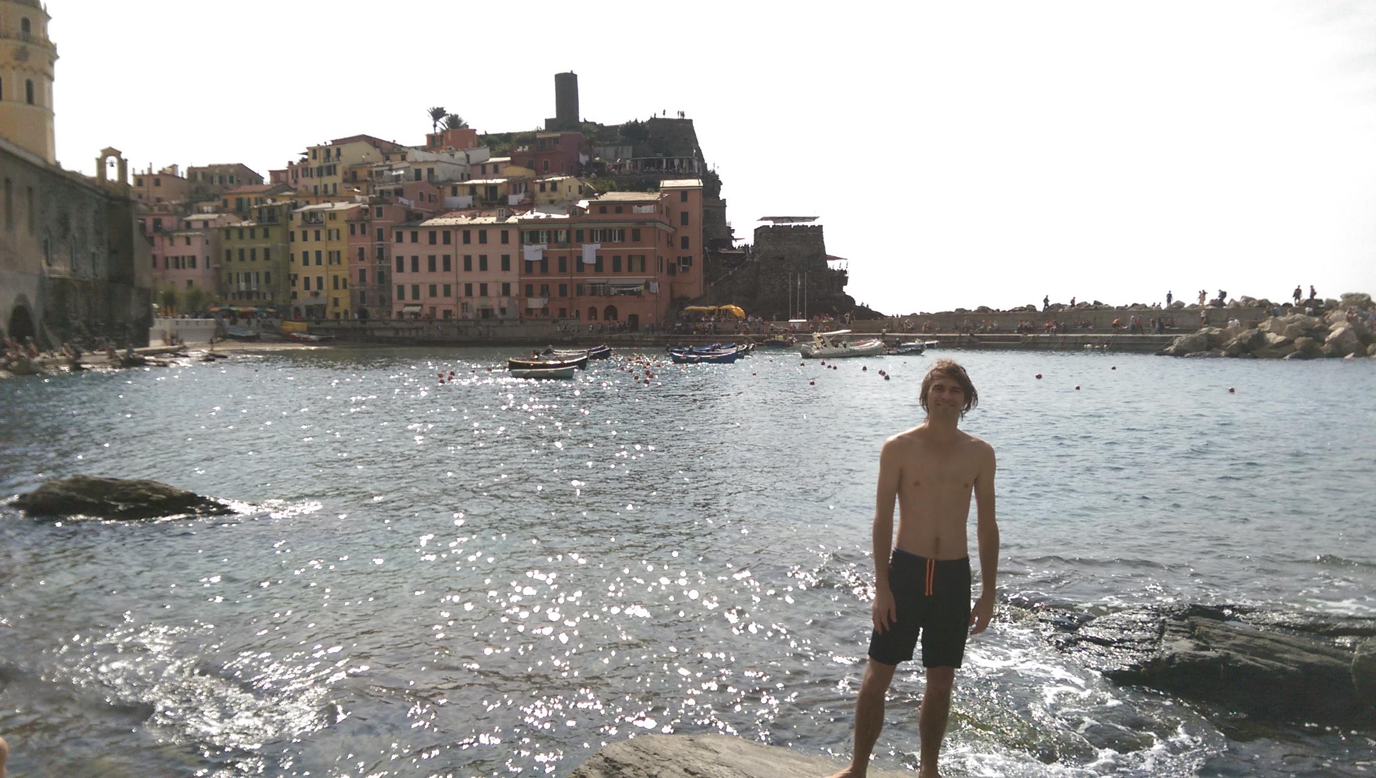 Swimming in Vernazza, Cinque Terre, Italy